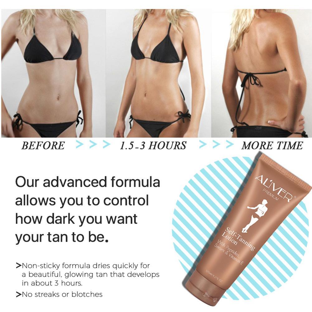 Self Tanner Self Tanning Cream Body Black Bronze Tanning Long Lasting Sunless Lotion 125ML 3
