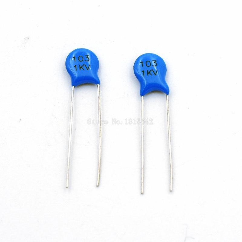 100pcs 1KV 10000pF High Voltage Ceramic Disc Capacitors 0.01uF