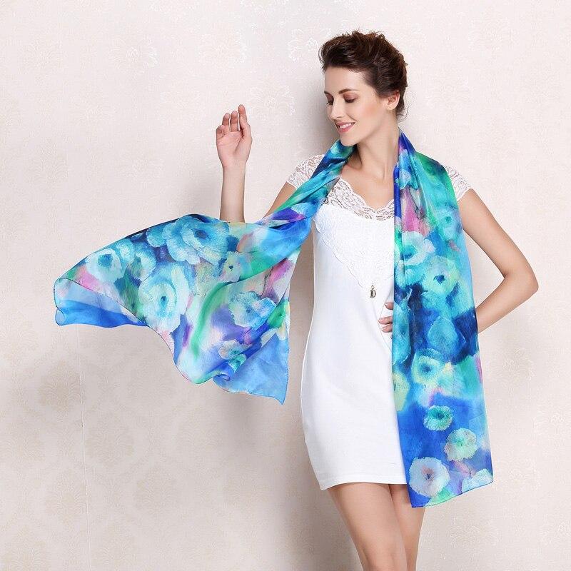 ae5b72916277 Click here to Buy Now!! 100% réel soie Écharpe Châle Wrap pour femmes ...