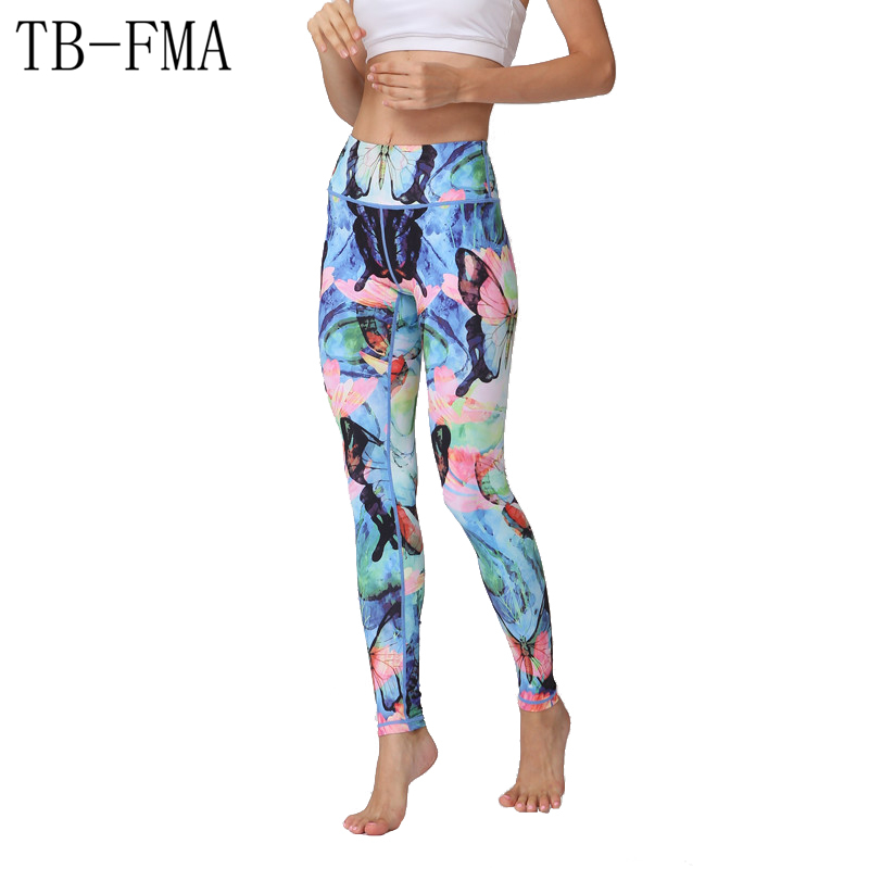 Yoga Pants Women Fitness Running Tights Push Hips Compression Sportswear Quick Dry Workout Yoga Leggings Fitness Skinny leggings women s sportive floral print skinny yoga leggings