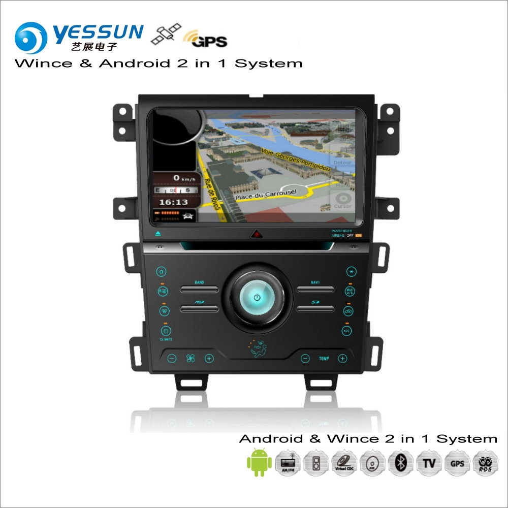 YESSUN For Ford Edge 2013~2014 - Car Android Multimedia Radio CD DVD Player GPS Navi Map Navigation Audio Video Stereo System yessun for mazda cx 5 2017 2018 android car navigation gps hd touch screen audio video radio stereo multimedia player no cd dvd