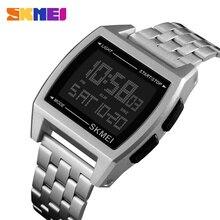 SKMEI relojes deportivos militares para hombre, reloj electrónico Digital LED, resistente al agua, de lujo, Masculino