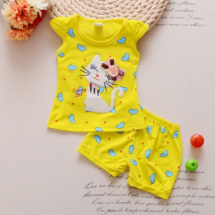 2016-Infant-clothes-toddler-children-summer-baby-girls-clothing-sets-cartoon-2pcs-cat-love-clothes-sets (2)