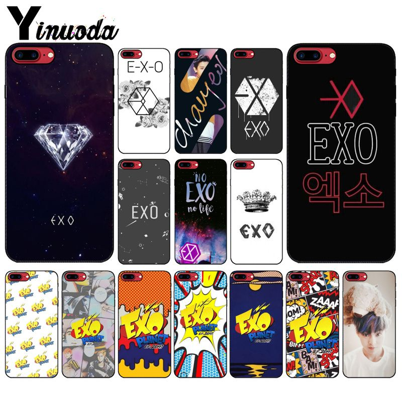 Yinuoda EXO band k-pop <font><b>kpop</b></font> Novelty Fundas Phone <font><b>Case</b></font> Cover for Apple <font><b>iPhone</b></font> 8 7 6 6S Plus X XS MAX 5 5S SE XR Mobile Cover image