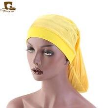 Bonnet de poche en Satin, nouvelle collection, large bande élastique, soie, tresses, Dreadlock, Baggy