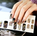 1 PCS high quality glass nail stickers For Nail Gel Polish The starry sky nail stick shell luster nail Decoration