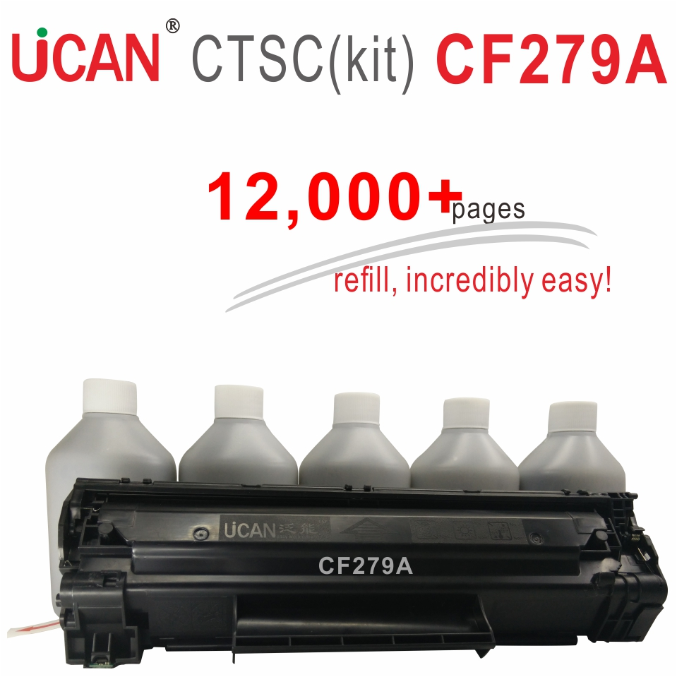 CF279A 79A for HP LaserJet Pro M12 M12a M12w M26a M26nw MFP UCAN CTSC kit 12000 pages equal to 12-Pack ordinary Toner Cartridges 4x non oem toner refill kit chips compatible for hp 130a 130 cf350a cf353a color laserjet pro mfp m176 m176n m177 m177fw