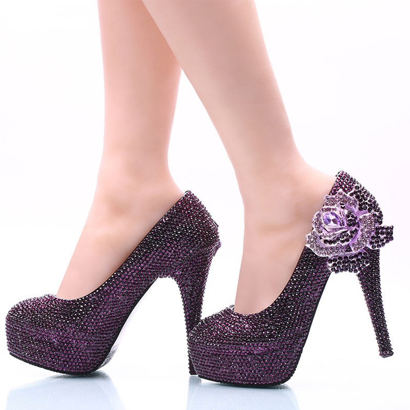 Online Buy Wholesale womens purple dress shoes from China womens ...