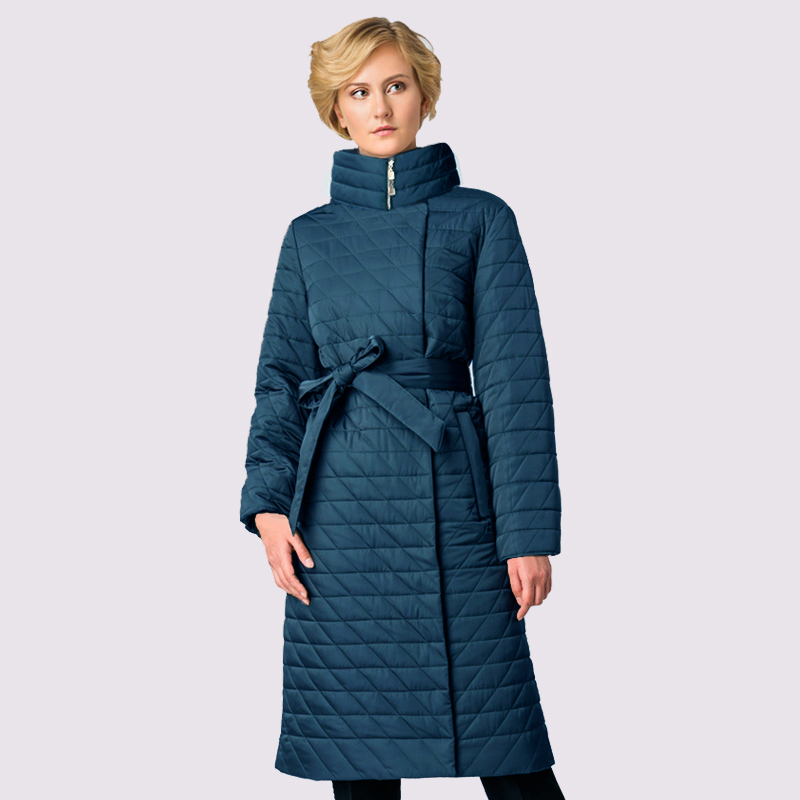 2019 Spring Autum Women's   Parka   Warm Windproof Thin Women Coat Long Plus Size Quilting Cotton Standing Collar Jackets Outwear