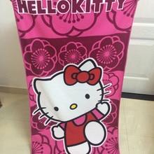 01b32c808 New Cartoon Pink Hello Kitty Cotton Bath Towel Soft Absorption Cute Baby Girl  Bath Towel Gift