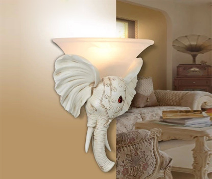 Elephant Style Modern Wall Light Wall Sconces Lighting Included Led Wall Light Resin Mat ...
