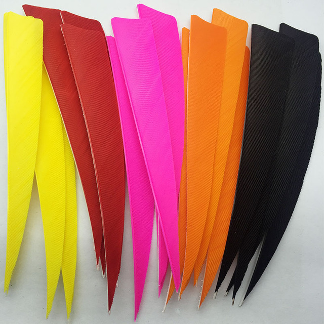 50pcs ONTFIHS 5″ Shield Cut Fletchings Arrow Feathers Turkey Feather Archery Arrow Accessories Handcraft Fletches Feather FT40