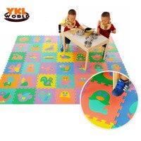 9PCS Pack Hot EVA Baby Puzzle Mats Foam Educational Alphabet Number Animal Shape Child Jigsaw Puzzle