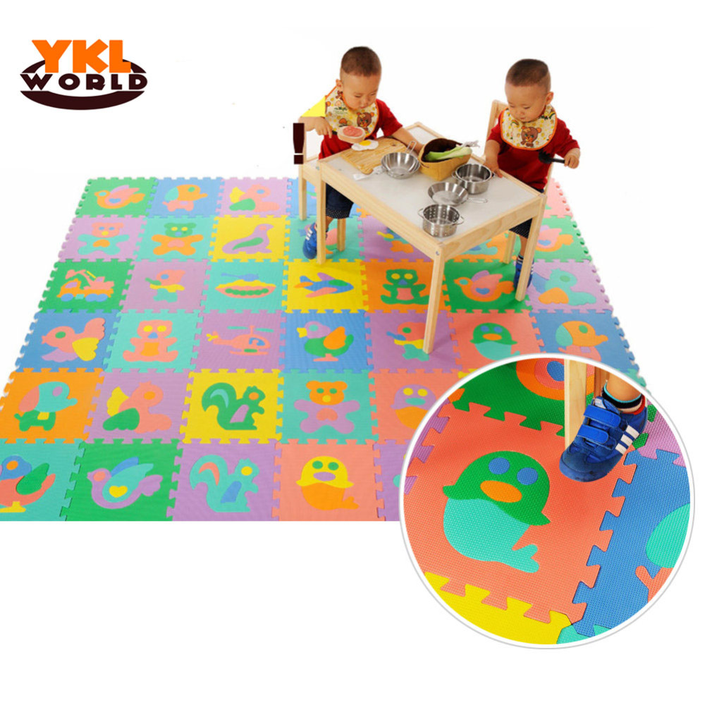 9PCS/Pack Hot EVA Baby Puzzle Mats Foam Educational Alphabet Number Animal Shape Child Jigsaw Puzzle Mat For Children Toys -45 ...