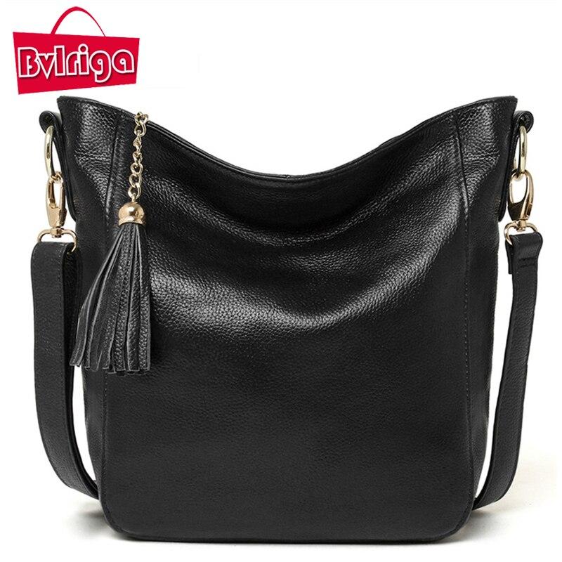 BVLRIGA Women messenger bags tassels shoulder bags luxury handbags women bags de