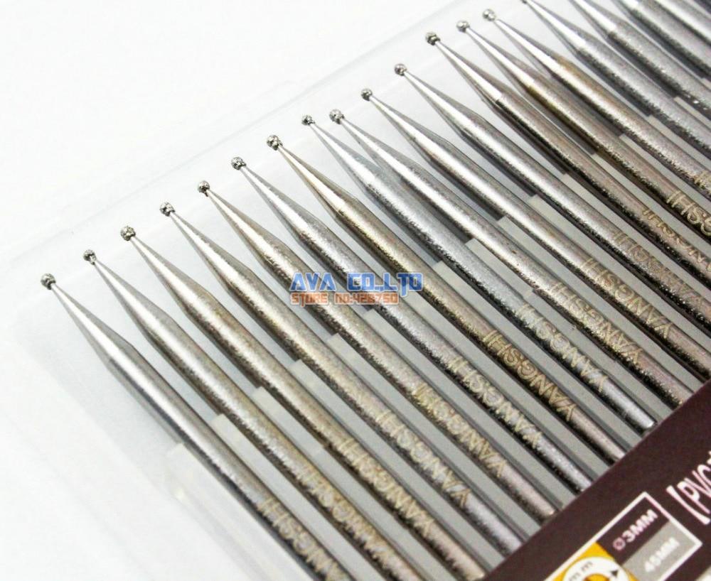 30 Pieces 1mm Dia Ball Shape Tip 3mm Shank Alloy Diamond Burrs Bits Grinding Tool