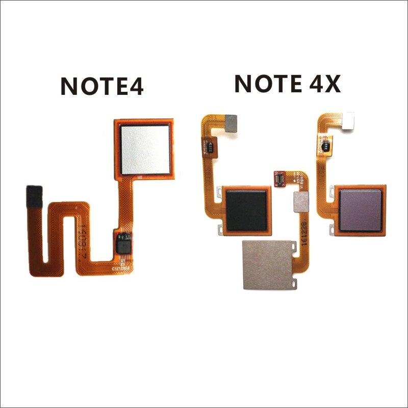 Note 4 Fingerprint Scanner Flex Cable Touch Sensor ID Home Button For Xiaomi Redmi Note 4X Fingerprint Button Key