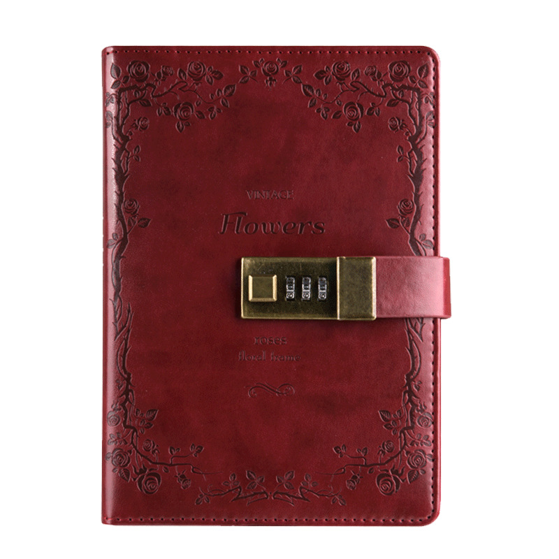 New B6 High Quality Multifunction Hardcover Commercial Diary Bookwith Coded Notebook Password Lock 365 day thick hardcover personal diary
