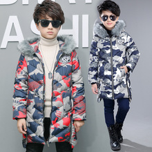 BanKu winter early spring 2018 new boy long cotton fashion camouflage pattern warm cotton clothing children's clothes 5T 6T 7T