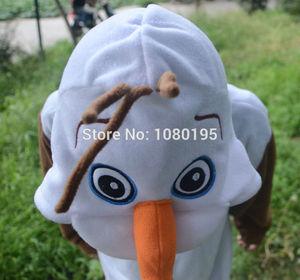 Image 4 - Anime Olaf snowman Costume Pajamas Cosplay White jumpsuit Adult Onesie Pyjamas Party Dress NL1601