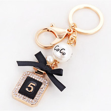 New Brand Perfume Bottle Luxury Keychain Key Chain & Key Ring Holder Keyring Porte Clef Gift Men Women Souvenirs Car Bag Pendant