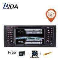 LJDA Car Multimedia Player GPS Stereo System For BMW E39 X5 M5 E53 Wifi FM AM 1 Din Car Radio dvd automotivo canbus Stereo RDS