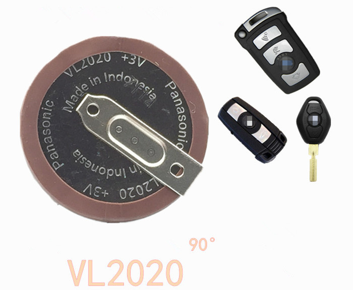 New 100% Original VL2020 Car Key Fobs With Legs 90 degrees Rechargeable For PANASONIC Button Battery Free shipping manguera expandible