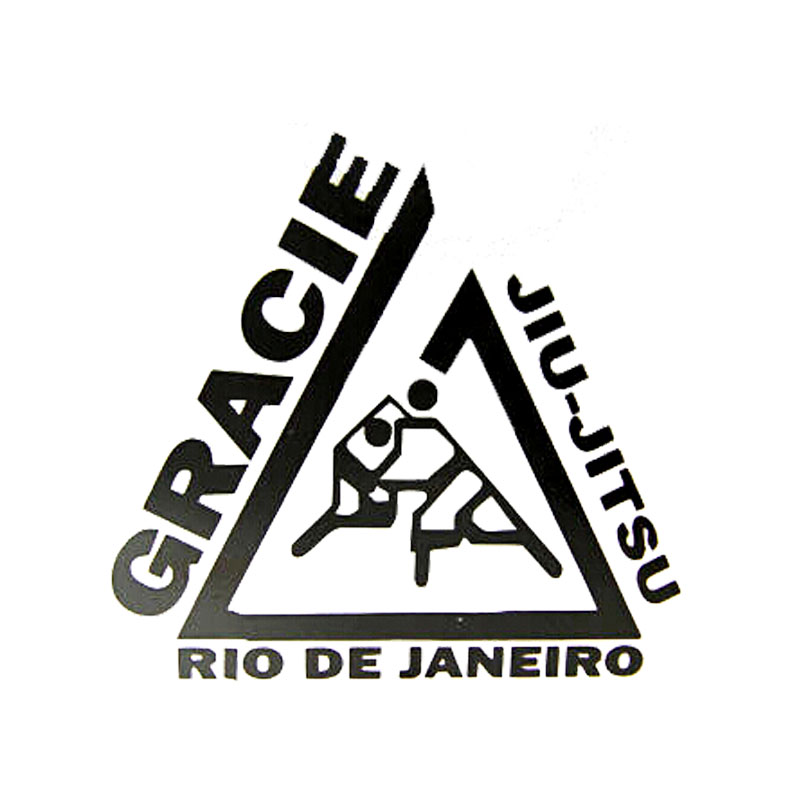 11.5cm*11cm Personalized  Creative Jiu Jitsu GRACIE Rio De Janeiro Vinyl Funny Window Stickers C5-0547
