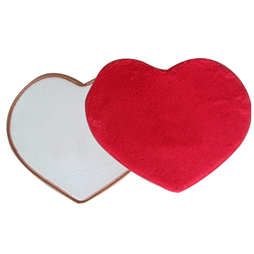 Absorbent Anti-slip Latex Back Furry Mat Bathroom Living Room Heart Floor Rug