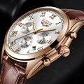 Мужские часы с кожаными римскими цифрами  винтажный стиль 2018  кварцевые часы  мужские брендовые водонепроницаемые спортивные часы Relogio ...