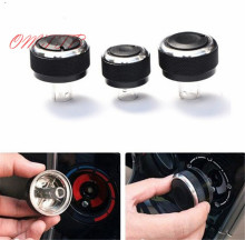 3pcs Aluminium Heater Air Con Dash Conditioning AC Knobs Control Buttons for volkswagen VW Passat B5 GOLF 4 Bora car styling