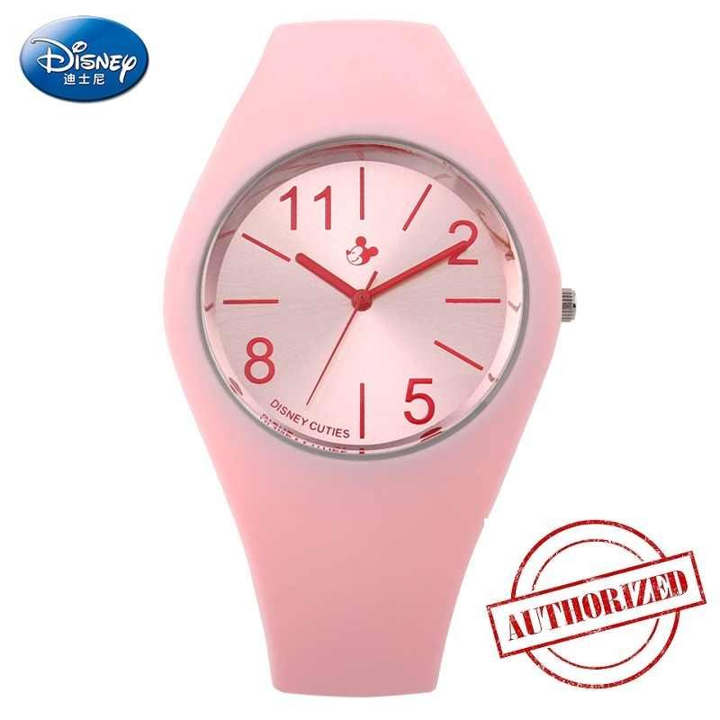 מקורי דיסני ילדים קוורץ שעונים 30m Waterproof ילדים שעונים בני בנות מיקי Cartoon סיליקון ג 'לי שעון reloj infantil