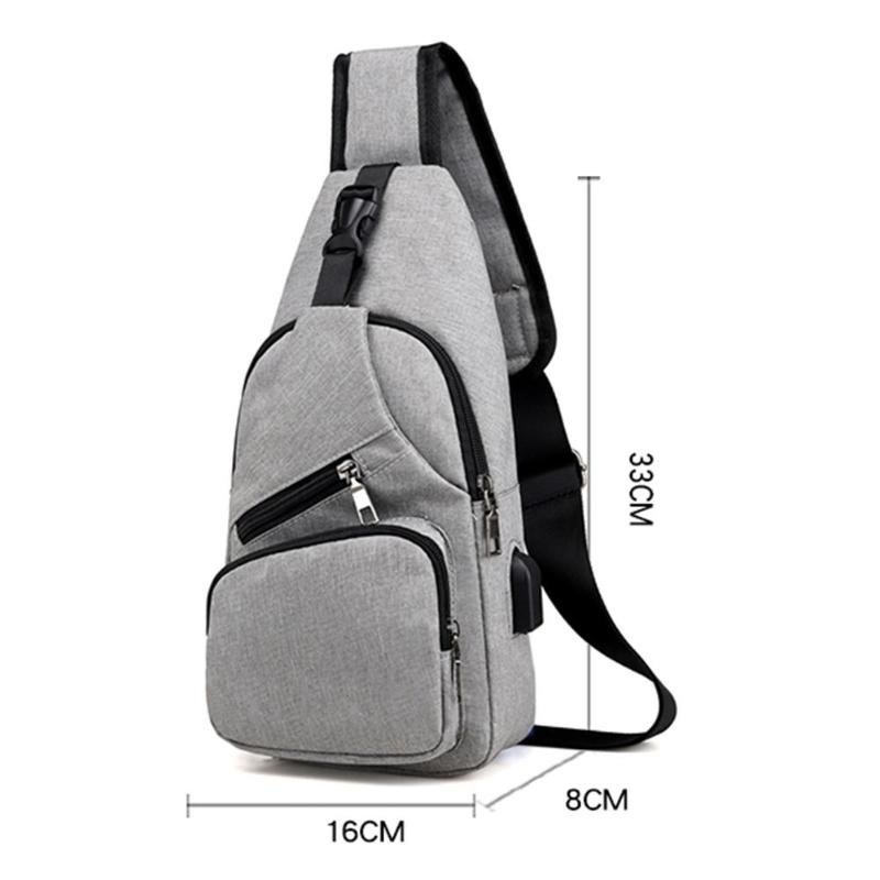 de0a3f582c61 Повседневное спортивные для мужчин слинг груди пакет холст зарядка через  usb сумка сумки на плечо. Особенности: Модные версия типа: лаконичный, ...