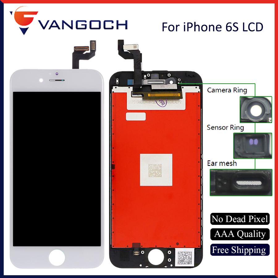 10PCS/Lot Wholesale No Dead Pixel Display for iPhone 6s LCD Part Glass Touch Panel Digitizer Assembly for iPhone 6s screen image