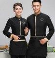 Китайский ресторан униформа китайский отель официант униформа ресторан официантка униформа длинным рукавом отель рабочая одежда