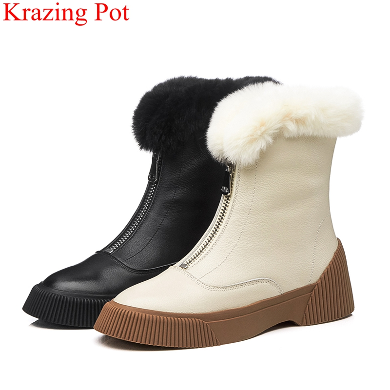 2018 fashion runway keep warm cow leather solid round toe med heels zipper platform office lady casual women mid-calf boots L32 2018 fashion runway keep warm cow leather solid round toe med heels zipper platform office lady casual women mid-calf boots L32