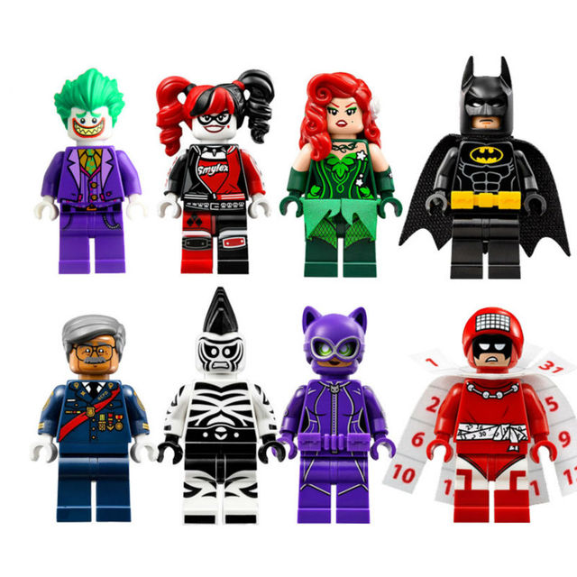 New Batman Movie Building Block 8 Pcs
