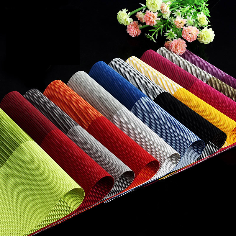 4 Square Solid Color Dining Table Placemat Europe Style
