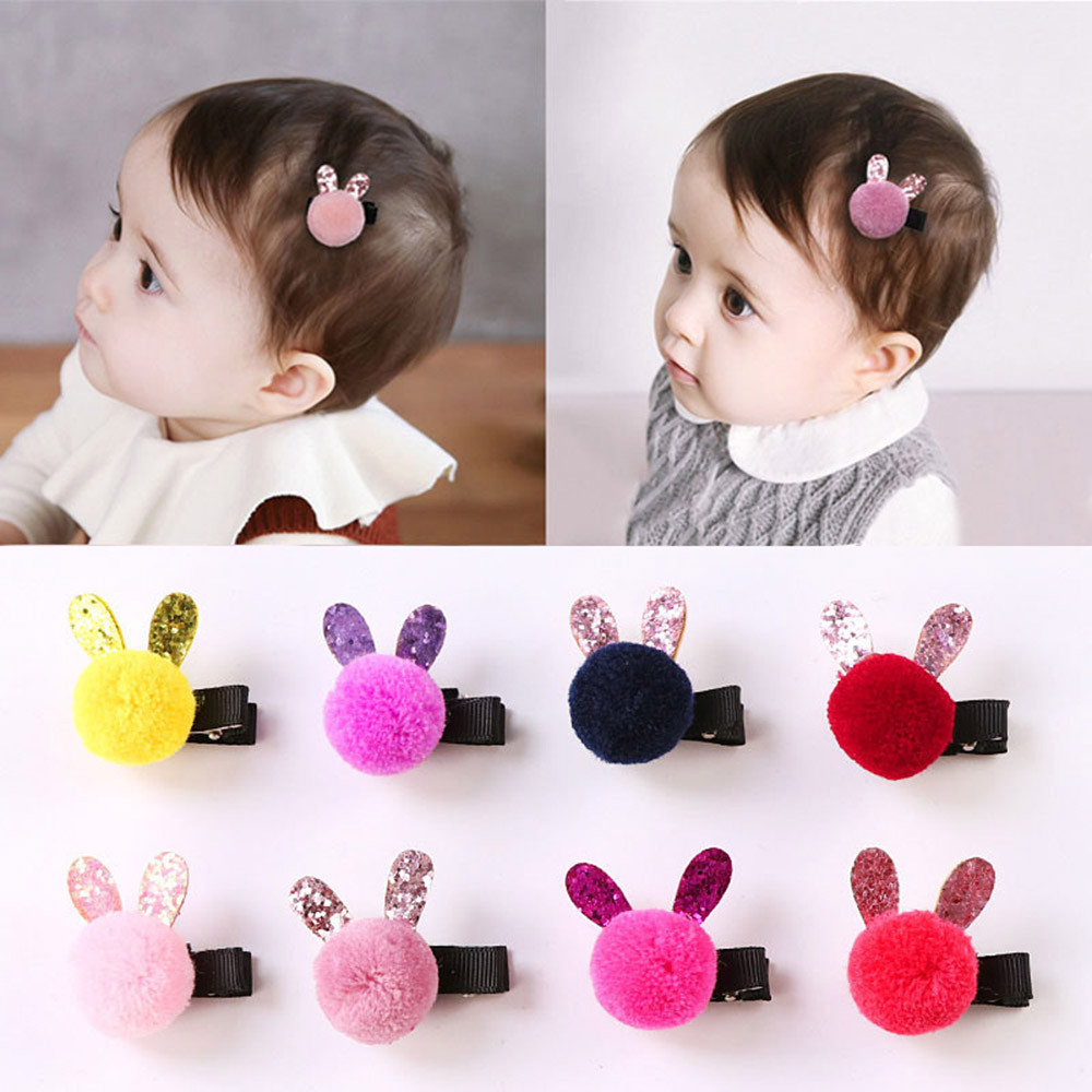 1PCS Fashion Lovely Barrette Baby Hair Clip Cartoon Rabbit Hairclip Hairpin Baby Girl Hairgrip Accessories fashion barrette baby hair clip 10pcs cute flower solid cartoon handmade resin flower children hairpin girl hairgrip accessories