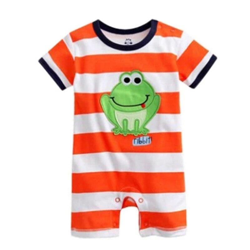 Sommerstil Baby Romper Nyfødt Babytøj Cartoon Stripe Nyfødt Baby Pige Tøj Ropa Bebe Børn Rompere HB004