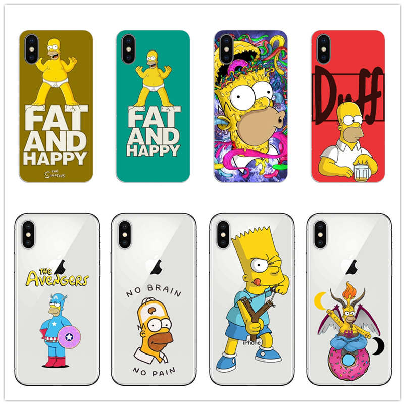Homer J Simpson phone Jay SIMPSON case Soft silicone TPU Phone Case For iPhone 5 5S