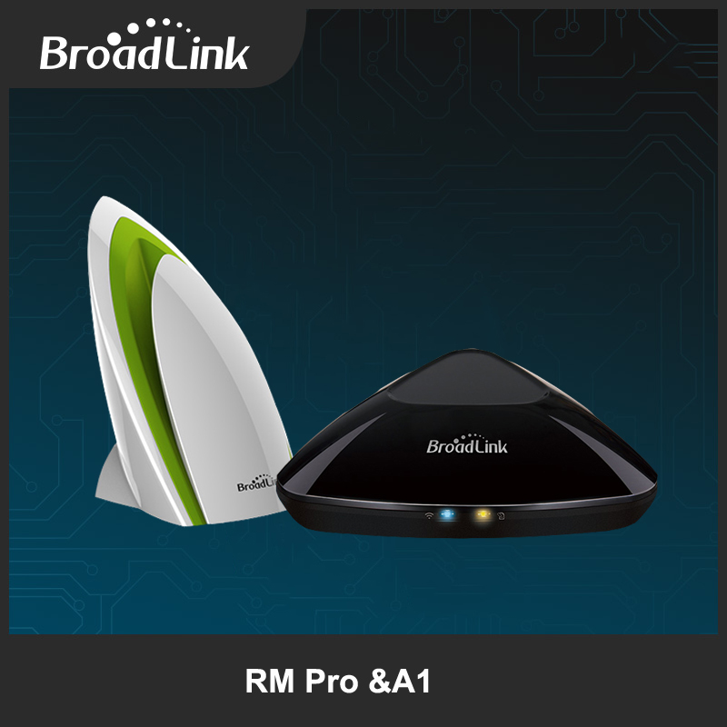2017 Broadlink Rm Pro Rm2 Wifi+IR+RF Controller and A1 Air Quality Detector Smart Home Intelliget Remote Control Via IOS Android broadlink us tc2 wifi touch switch 3gang 110 220v for rm2 rm pro universal remote controller wifi ir rf wireless control 433 315