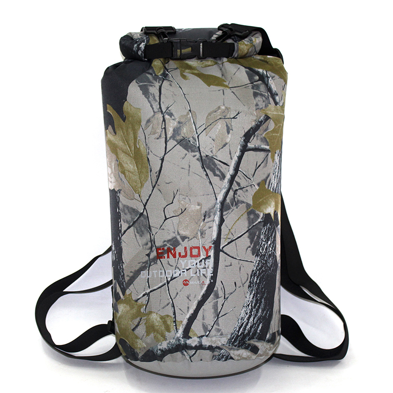 20L Outdoor Waterproof Bag Dry Bag Camouflage Waterproof Backpack Man Rafting Kayaking River Trekking Bag Women Travelling Bag