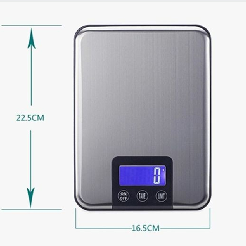 10KG LCD Electronic Kitchen Scales 10kg 1g Slim Stainless Steel Diet Food Digital Scale Touch Grams Weighing Balance Retail Box digital 25kg x 1g 55lb parcel letter postal postage weighing lcd electronic scales