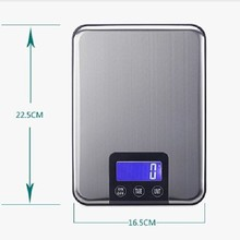 10KG LCD Electronic Kitchen Scales 10kg 1g Slim Stainless Steel Diet Food Digital Scale Touch Grams Weighing Balance Retail Box(China)