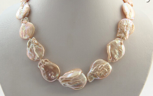 все цены на AA 001472 baroque pink freshwater cultured pearl necklace