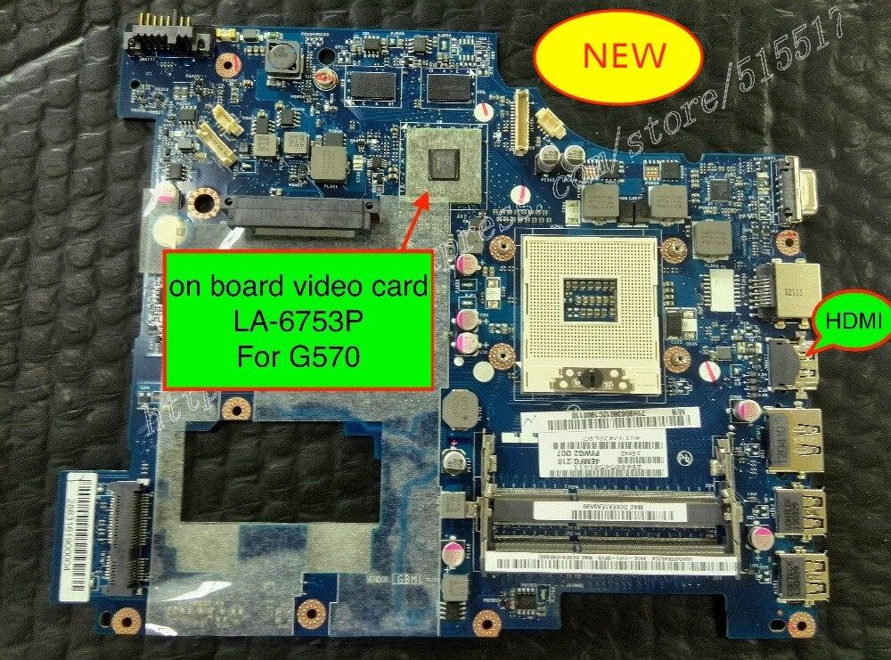 Free Shipping Original New For Lenovo G570 PIWG2 LA-6753P Motherboard with GPUFree Shipping Original New For Lenovo G570 PIWG2 LA-6753P Motherboard with GPU
