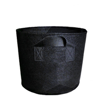 Non Woven Tree Fabric Pots  Grow Bag Root Container Plant black hand with planting flowers nonwoven bags Grows Culture