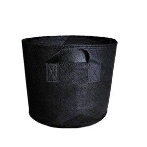 Image 1 - Sac de Culture en tissu Non tissé, pot en tissu Non tissé, bac de Culture pour plantes, main noire avec plantation de fleurs