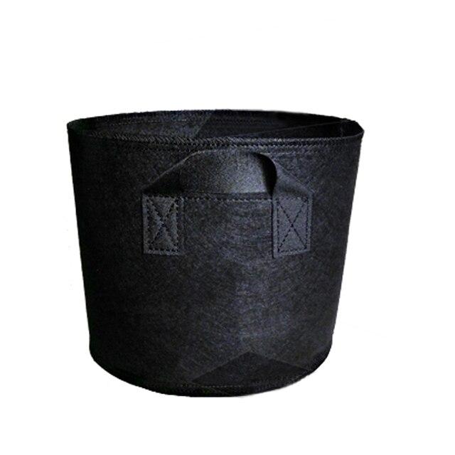 Sac de Culture en tissu Non tissé, pot en tissu Non tissé, bac de Culture pour plantes, main noire avec plantation de fleurs